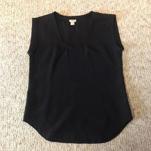 J Crew scoop neck shirttail top Small
